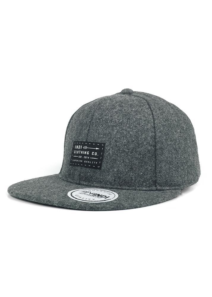 Indi Melton Wool Snapback Cap in Grey » Indi Clothing Co 76af4cda8d6