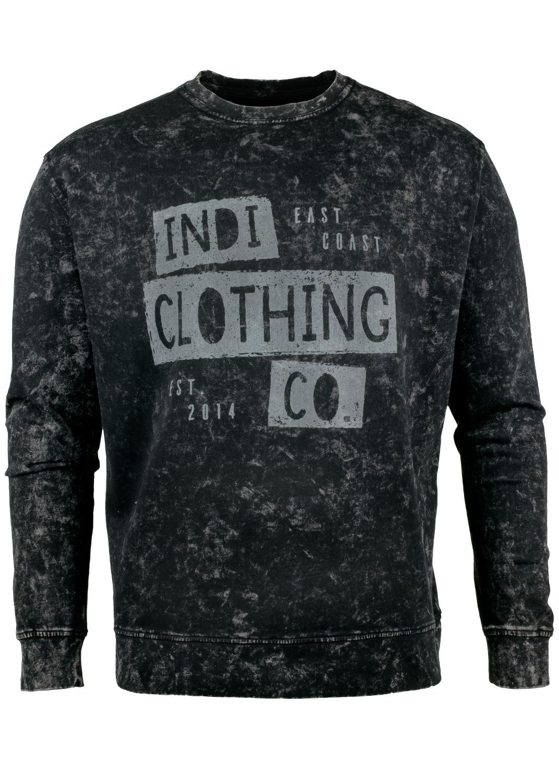Indi Oversized Acid Washed Sweater in Black » Indi Clothing Co eb9b35883