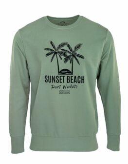 Sunset Beach New Zealand Palm Tree Sweatshirt 1_WEBv