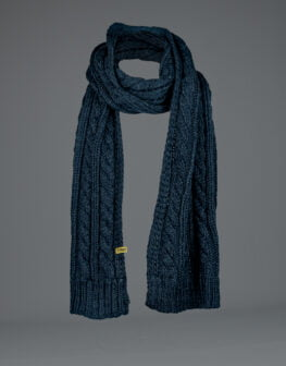 Cable Knit Scarf Navy-1